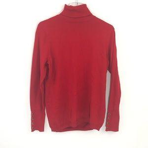 Joseph A Petite Red Turtleneck Sweater PL